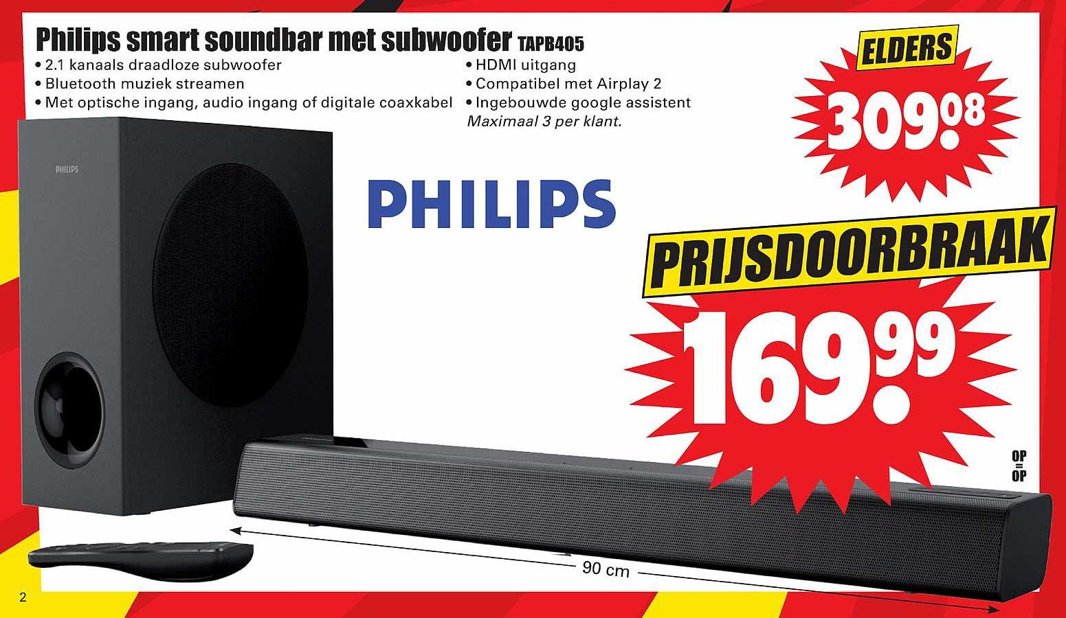 Dirk Philips Smart Soundbar Met Subwoofer TAPB405