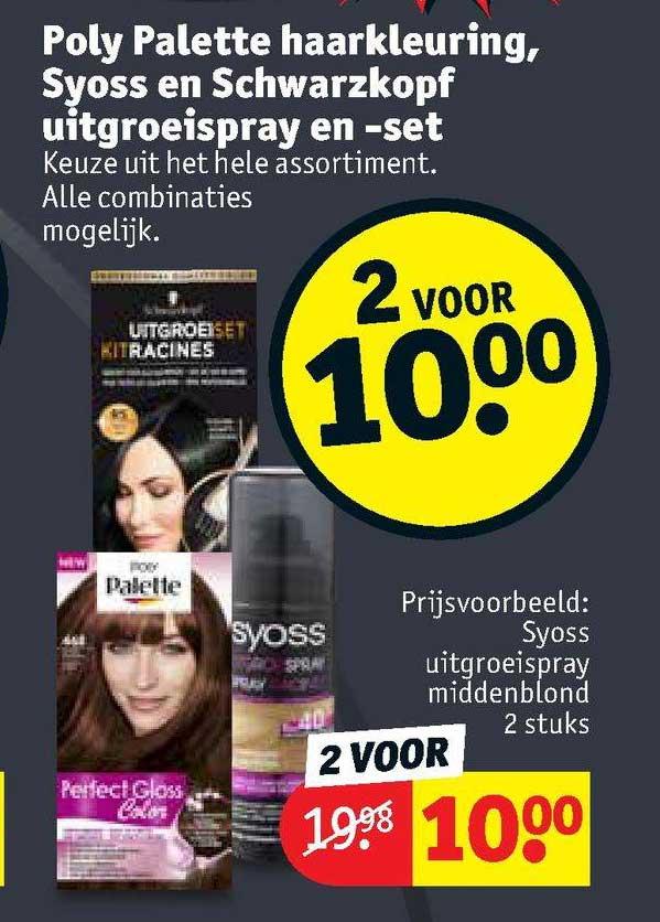Kruidvat Poly Palette Haarkleuring, Syoss En Schwarzkopf Uitgroeispray En -set