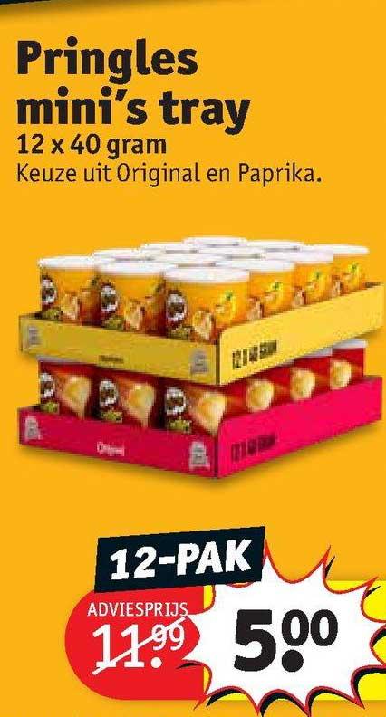 Kruidvat Pringles Mini's Tray