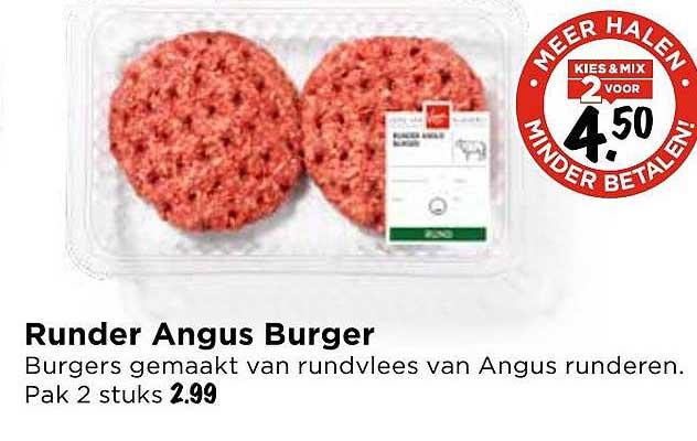 Vomar Runder Angus Burger