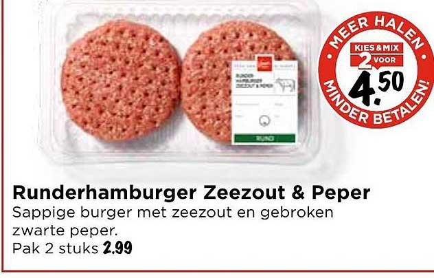 Vomar Runderhamburger Zeezout & Peper