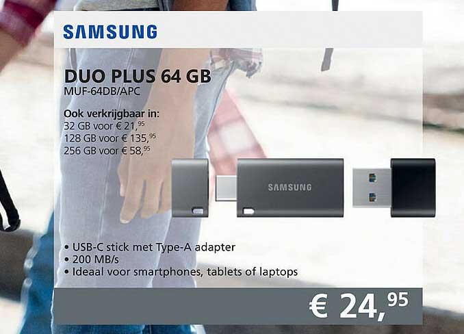 Informatique Samsung Duo Plus 64 GB MUF-64DB-APC
