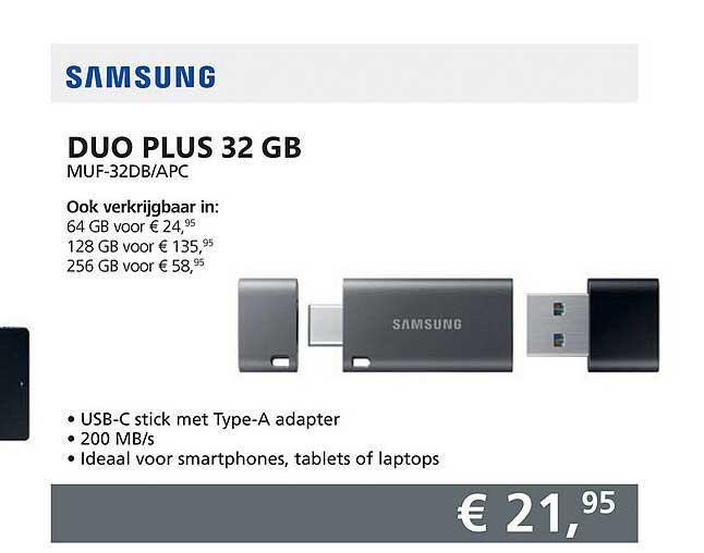Informatique Samsung Dup Plus 32 GB MUF-32DB-APC