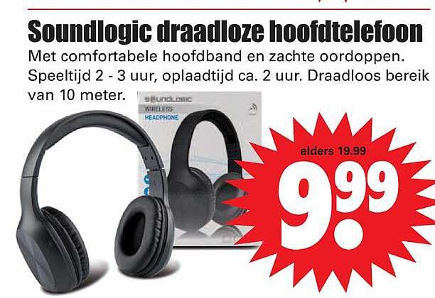 Dirk Soundlogic Draadloze Hoofdtelefoon
