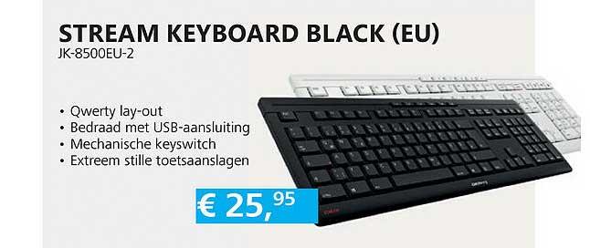 Informatique Stream Keyboard Black (EU) JK-8500EU-2