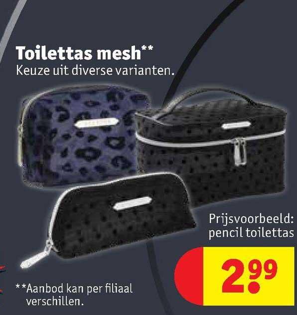 Kruidvat Toilettas Mesh