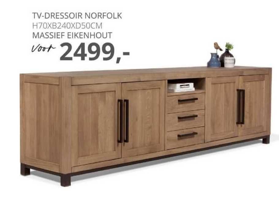 De Bommel Meubelen TV-Dressoir Norfolk H70xB240xD50cm