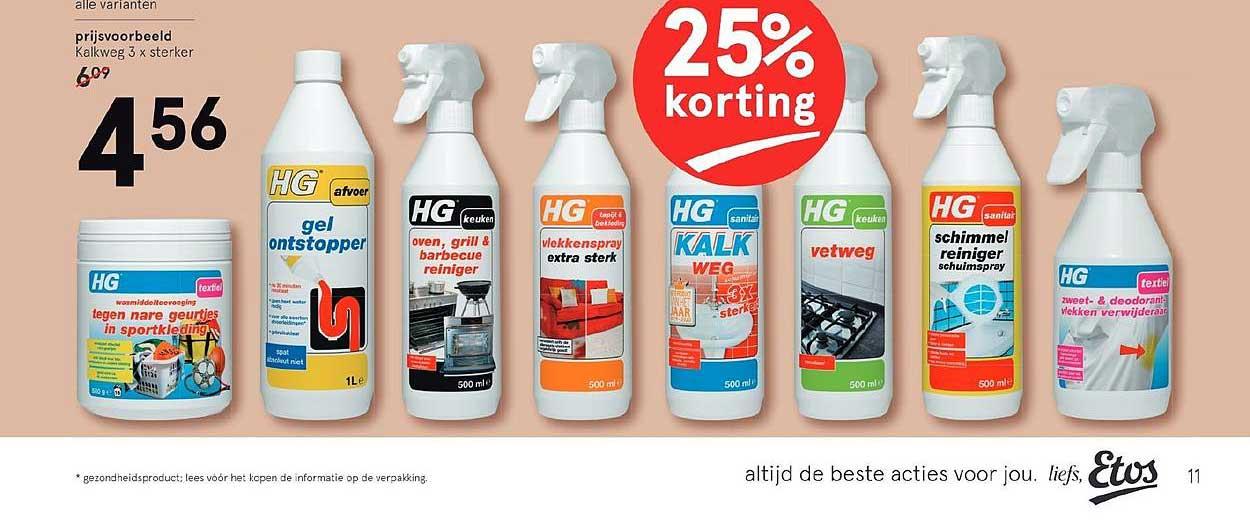 Etos HG Producten 25% Korting