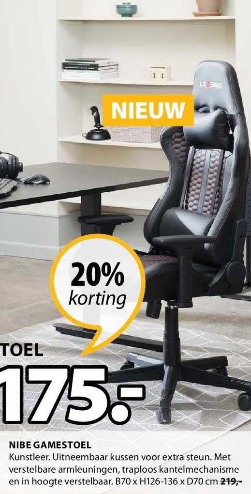 Jysk Nibe Gamestoel 20% Korting