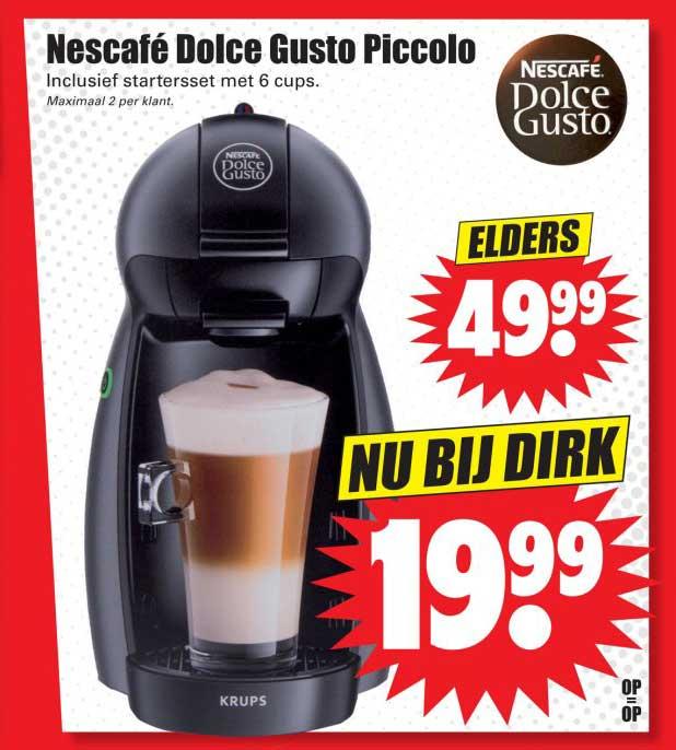 Dirk Nescafe Dolce Gusto Piccolo