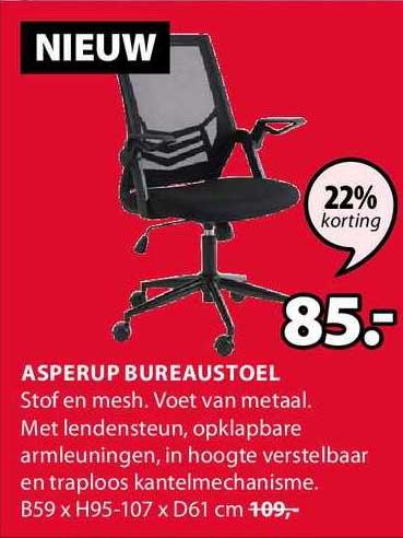 Jysk Asperup Bureaustoel 22% Korting