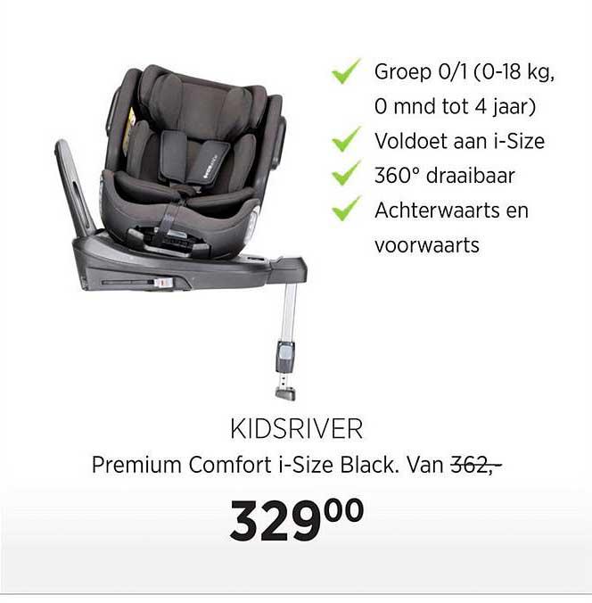 Babypark Kidsriver Premium Comfort I-Size Black Autostoel