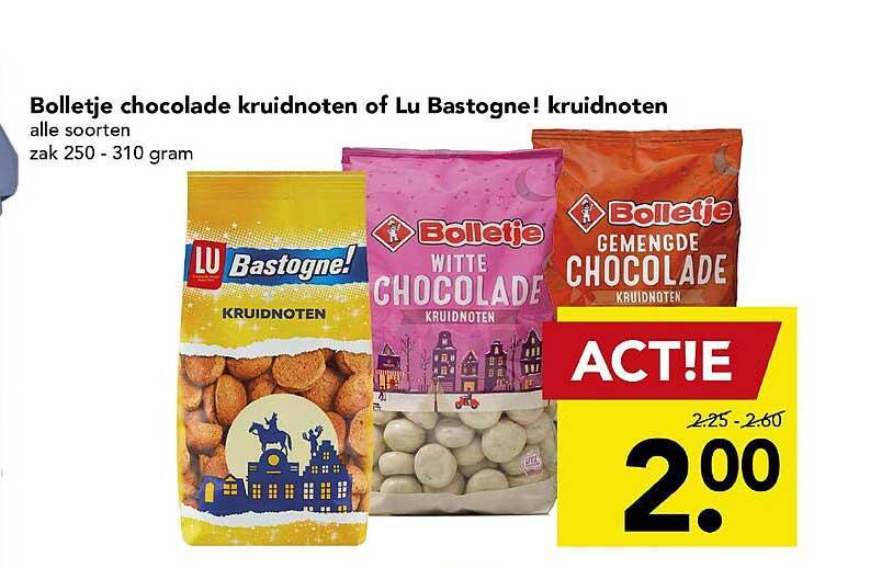 DEEN Bolletje Chocolade Kruidnoten Of Lu Bastogne! Kruidnoten