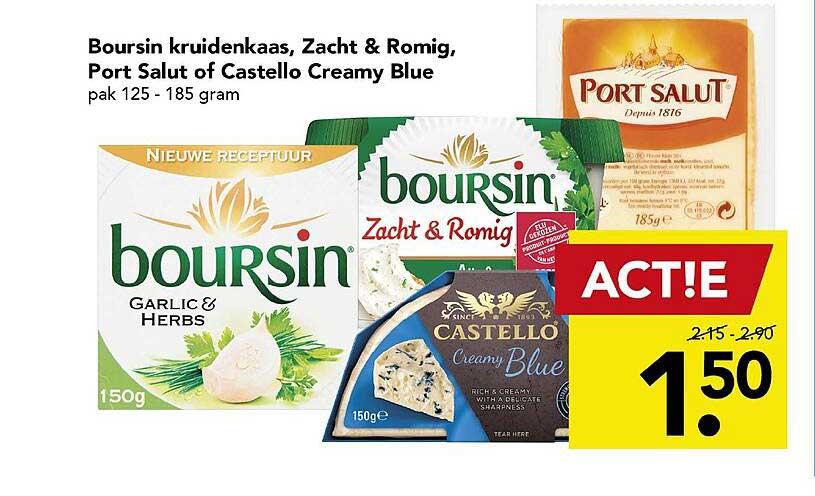 DEEN Boursin Kruidenkaas, Zacht & Romig, Port Salut Of Castello Creamy Blue