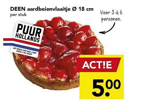 DEEN Deen Aardbeienvlaaitje Ø 18 Cm