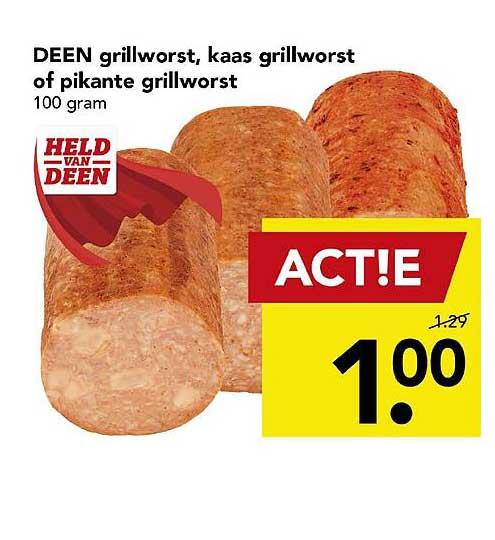 DEEN Deen Grillworst, Kaas Grillworst Of Pikante Grillworst