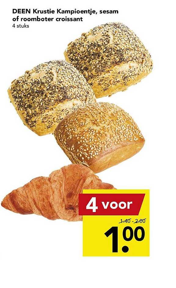 DEEN Deen Krustie Kampioentje, Sesam Of Roomboter Croissant