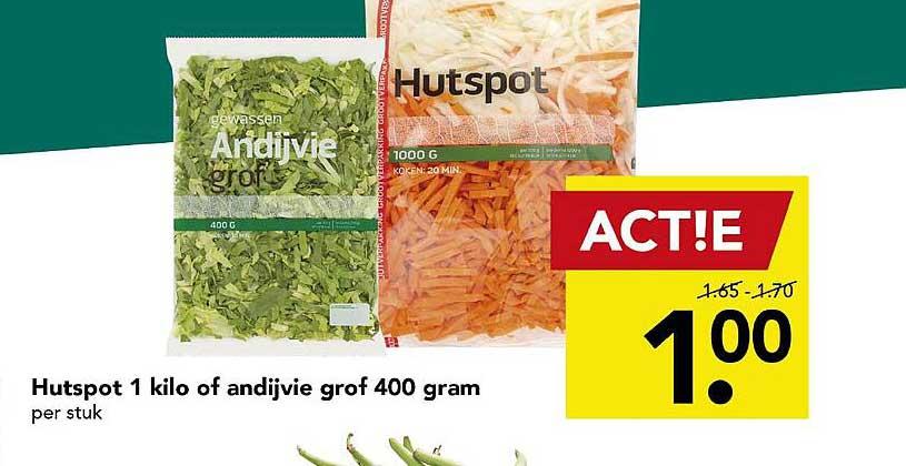 DEEN Hutspot 1 Kilo Of Andijvie Grof 400 Gram