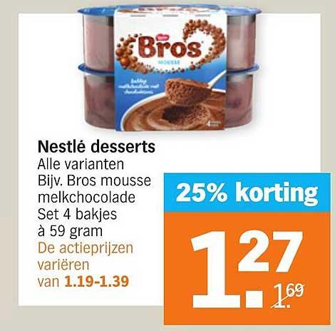Albert Heijn Nestlé Desserts 25% Korting