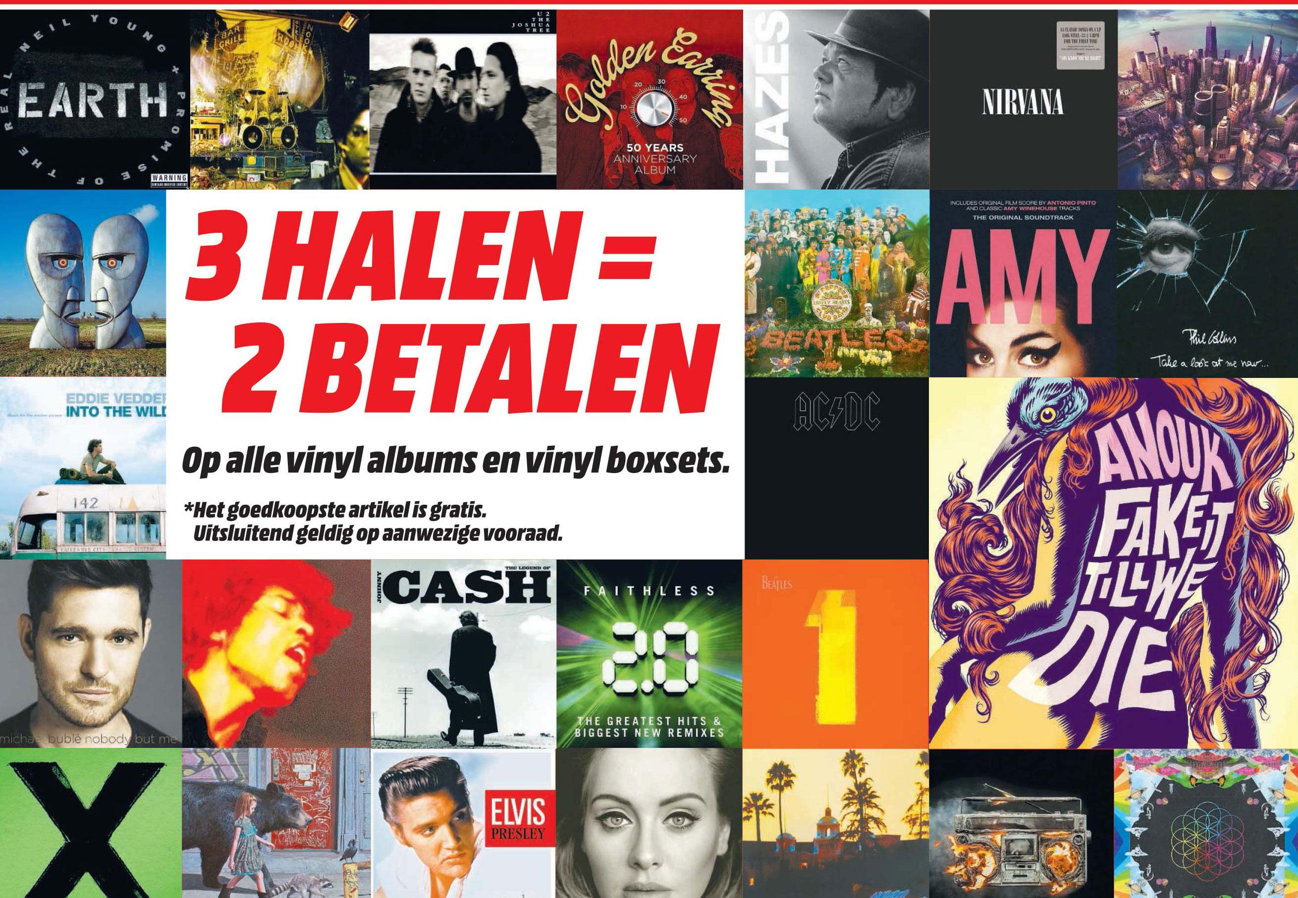 MediaMarkt 3 Halen = 2 Betalen Op Alle Vinyl Albums En Vinyl Boxsets