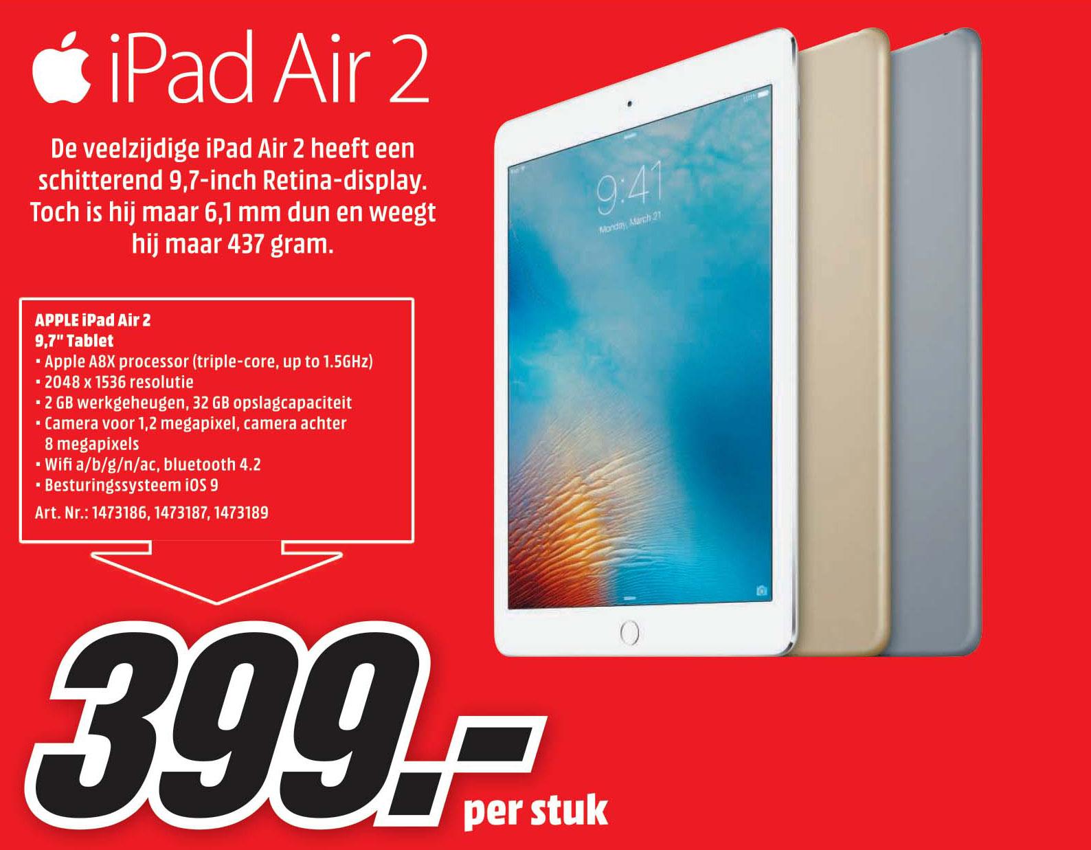 Mediamarkt Apple Ipad Air 2 9,7