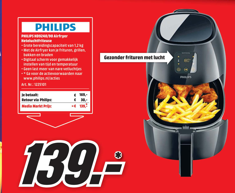 MediaMarkt Philips HD9240-90 Airfryer Heteluchtfriteuse
