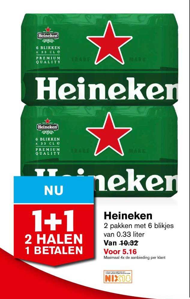 Hoogvliet Heineken: 2 Halen 1 Betalen