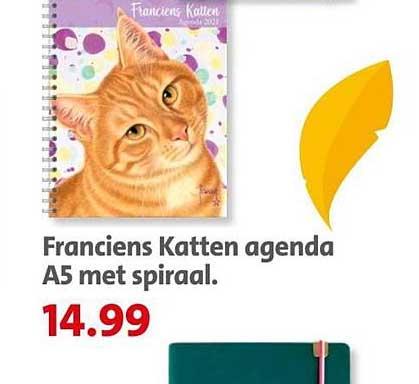 Bruna Franciens Katten Agenda A5 Met Spiraal
