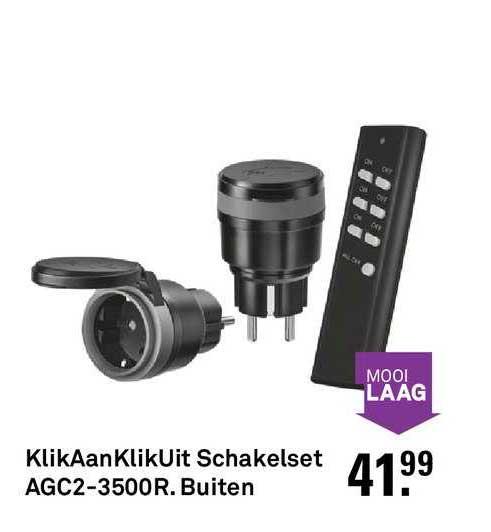 Karwei Klikaanklikuit Schakelset AGC2-3500R. Buiten
