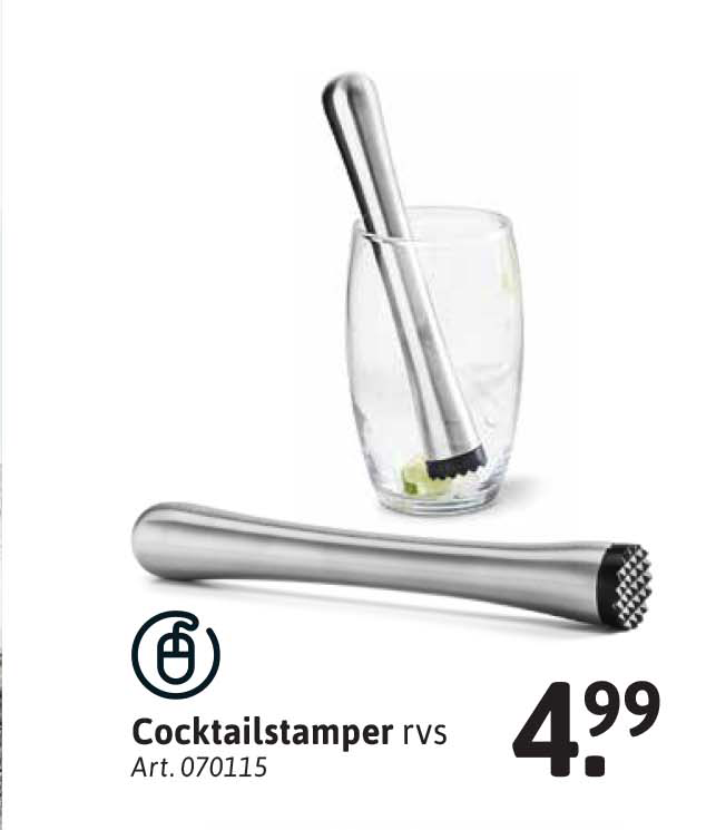 Xenos Cocktailstamper Rvs