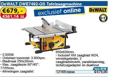 Toolstation Dewalt Dwe7492 Qs Tafelzaagmachine