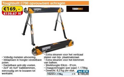 Toolstation Toughbuilt C700 Opvouwbare Schragen