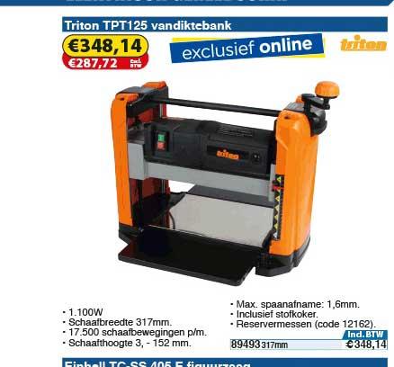 Toolstation Triton Tpt125 Vandiktebank