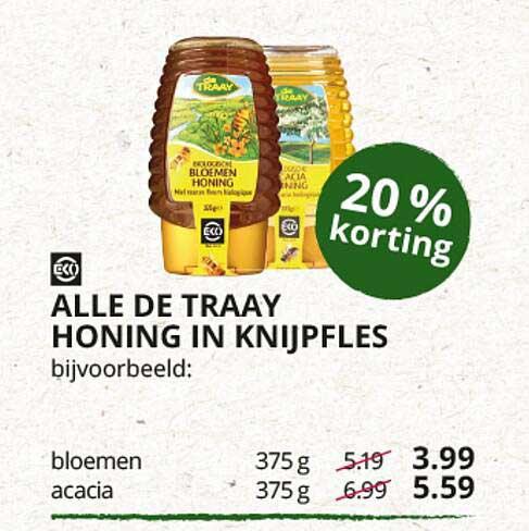 Natuurwinkel Alle De Traay Honing In Knijpfles 20% Korting