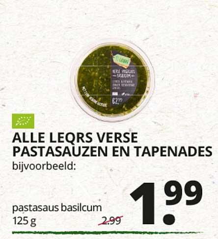 Natuurwinkel Alle Leqrs Verse Pastadauzen En Tapenades