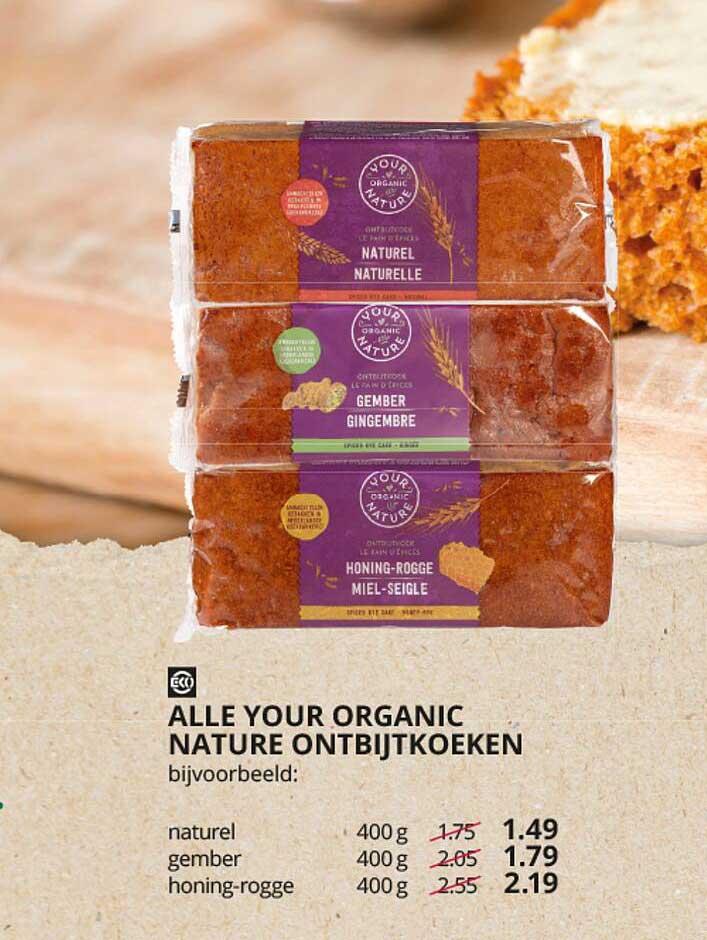 Natuurwinkel Alle Your Organic Nature Ontbijtkoeken