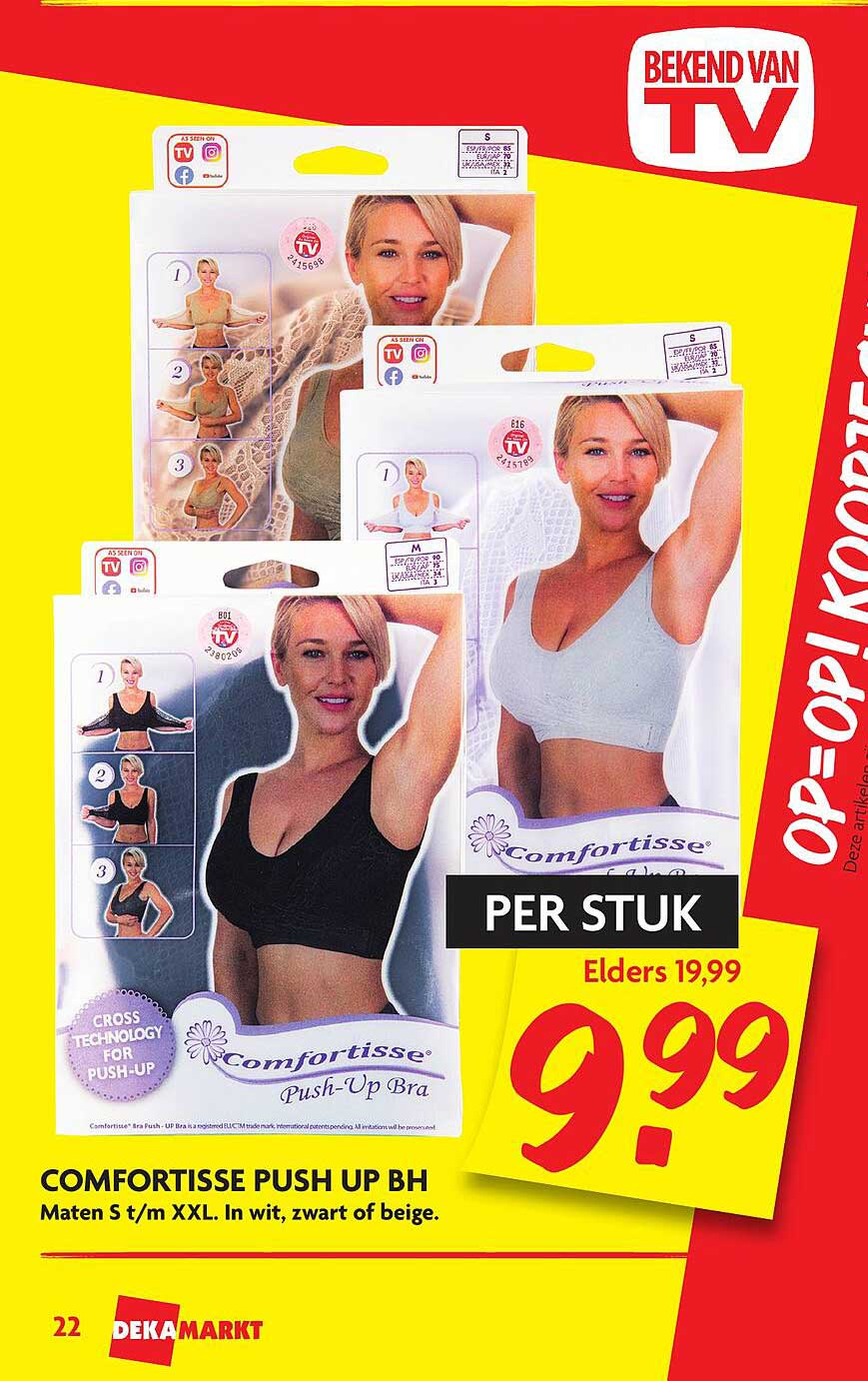 Dekamarkt Comfortisse Push Up BH