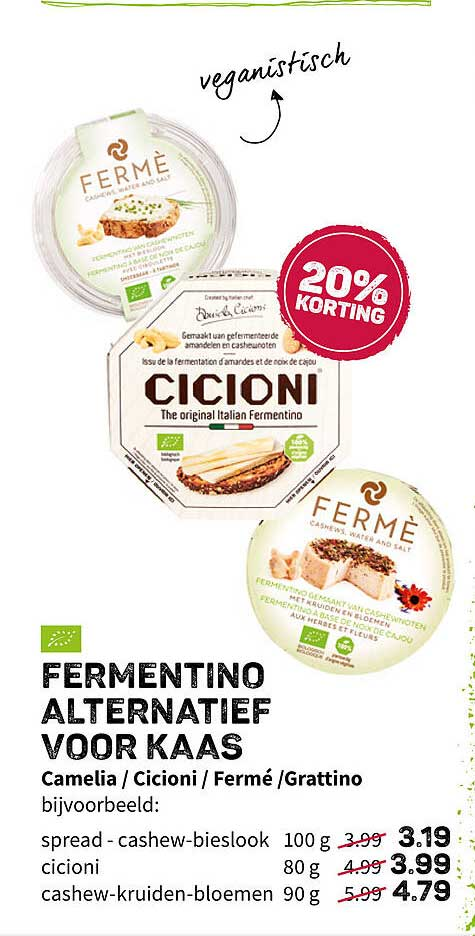 Ekoplaza Fermentino Alternatief Voor Kaas Camelia - Cicioni - Fermé - Grattino 20% Korting