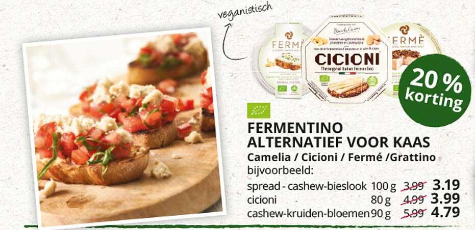 Natuurwinkel Fermentino Alternatief Voor Kaas Camelia - Cicioni - Fermé - Grattino 20% Korting