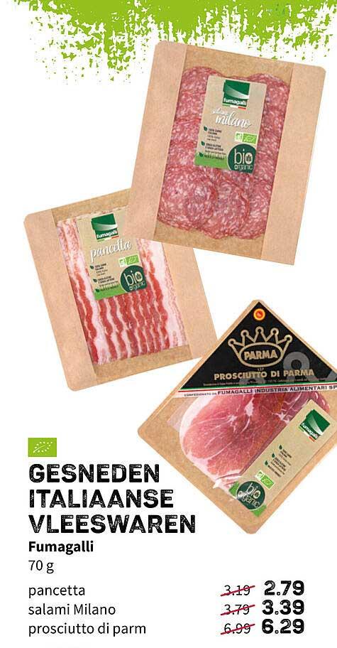 Ekoplaza Gesneden Italiaanse Vleeswaren Fumagalli