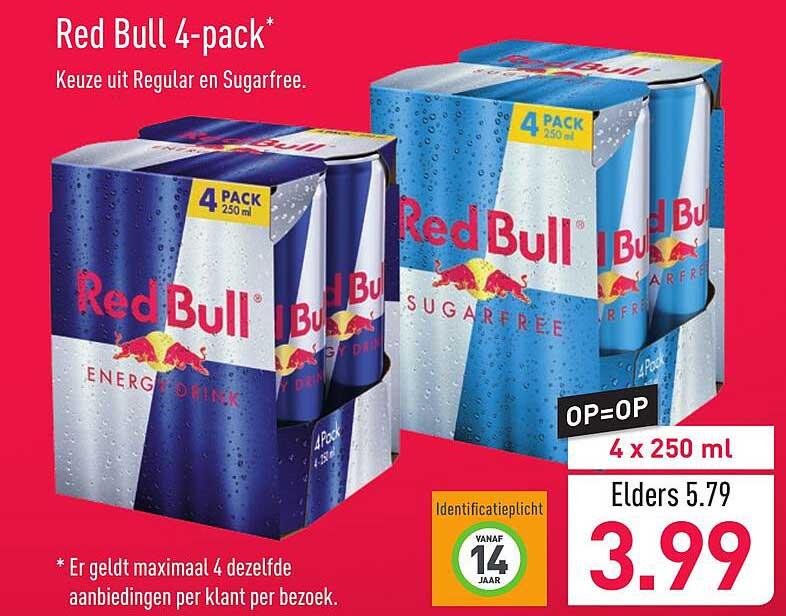 ALDI Red Bull 4 Pack