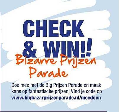 Big Bazar Check & Win Bizarre Prijzen Parade