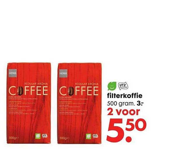 Gemalen Filterkoffie Aanbieding bij Hema
