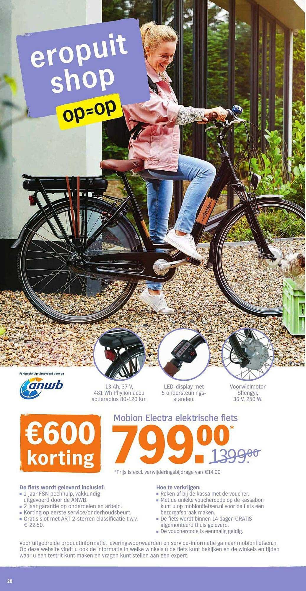 Albert Heijn Mobion Electra Elektrische Fiets: €600,- Korting