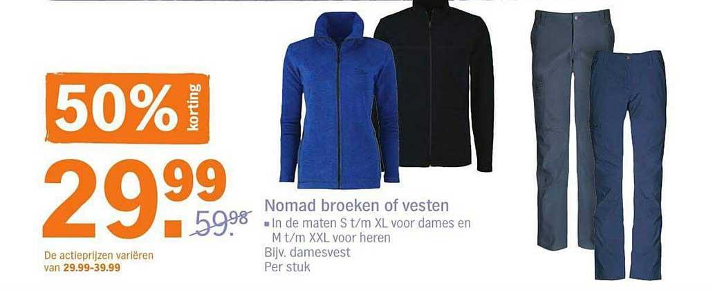 Albert Heijn Nomad Broeken Of Vesten: 50% Korting