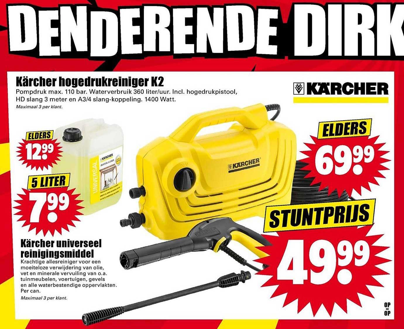 Dirk Karcher Hogedrukreiniger K2