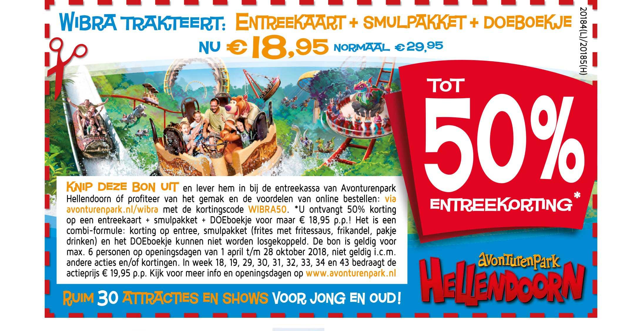 Wibra Avonturenpark Hellendoorn: Tot 50% Entreekorting