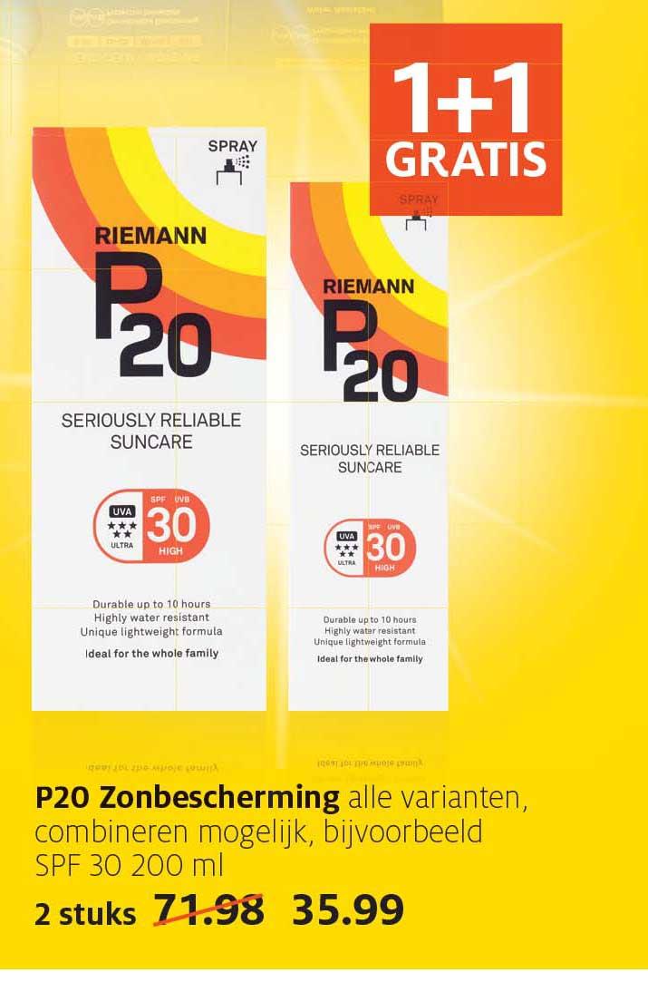 Etos P20 Zonbescherming: 1+1 Gratis