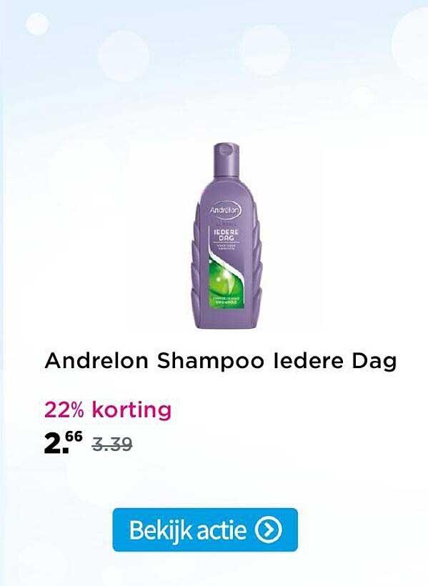Plein Andrelon Shampoo Iedere Dag 22% Korting
