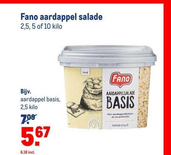 Makro Fano Aardappel Salade